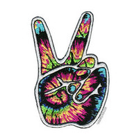 Tie Dye Peace Hand Patch on Sale for $3.99 at HippieShop.com