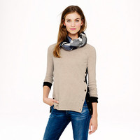 SIDE-BUTTON SWEATER IN COLORBLOCK