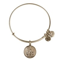 Alex and Ani Los Angeles Dodgers™ Cap Logo Charm Bangle Russian Silver