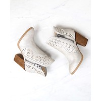 not rated - gretchen laser cut ankle bootie - cream