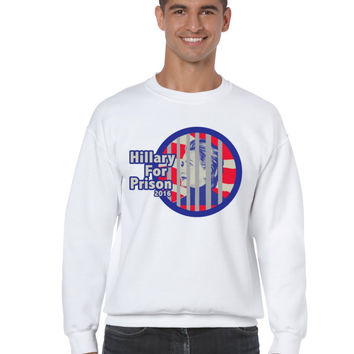 Hillary for prison 2016 mens Sweatshirt