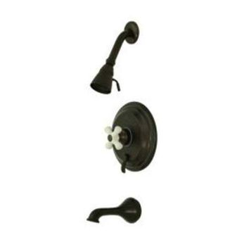 DCCK1IN elements of design eb36350px new orleans oil rubbed bronze pressure balanced tub and shower faucet with porcelain cross