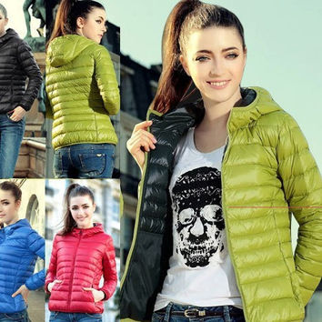 New 2017 Fashion Ladies Down Short Design Coat Winter Cotton-padded Jacket Women Slim Solid Zipper Outerwear DF-081