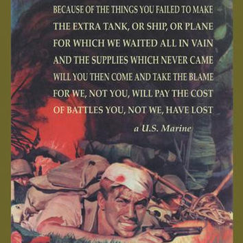 A Marines Poem 20x30 poster