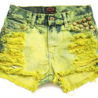 High waist shorts S by deathdiscolovesyou on Etsy