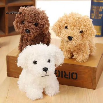 NEW Super Cute 3Colors - LONG Hair little dogs Plush Stuffed TOY DOLL , 10cm approx. key chain doggies plush toys