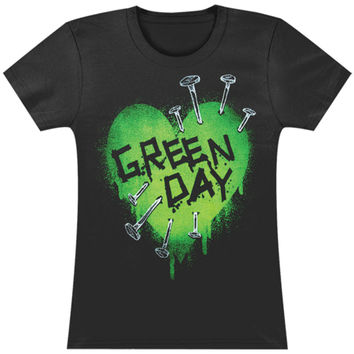 Green Day  Love Nails Girls Jr Black