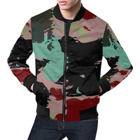 Retro colors texture All Over Print Bomber Jacket for Men (Model H19) | ID: D2194850