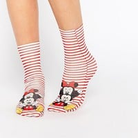 ASOS Disney Minnie And Mickey Mouse Ankle Socks at asos.com