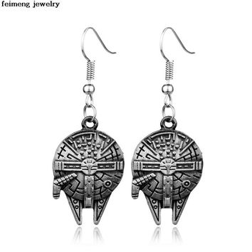 Star Wars Force Episode 1 2 3 4 5  Hit HP Time Turner Golden Snitch Deathly Hallows Millennium Falcon Spacecraft BB8 Pendent  Earrings CAN BE MIXED AT_72_6