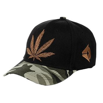Camouflage Men's Baseball Caps Brand Engravings Weed Snapback Hats For Women Swag Hip Hop Casual Outdoor Sport Bone
