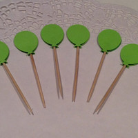 Balloon Cupcake toppers.  24 per order.  Choose Your Colors!