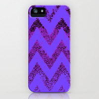 purple chevron iPhone & iPod Case by Marianna Tankelevich