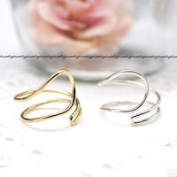 925 Sterling Silver Wire Wrapped Ring 2- Adjustable Ring