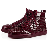 CHRISTIAN LOUBOUTIN Men Louis Orlato Flat Orthodoxe Patent High Top Trainers
