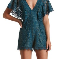 Dress the Population Raven Lace Romper | Nordstrom