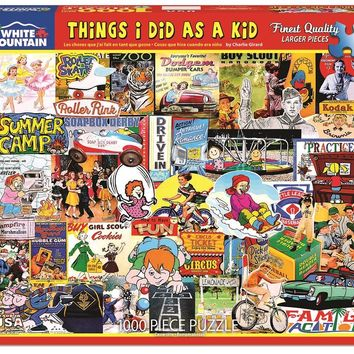 Things I Did as a Kid - 1000 Piece Jigsaw Puzzle