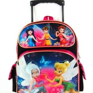 16IN Rolling Backpack - Disney - Fairies - Tinkerbell - Pixie Dust