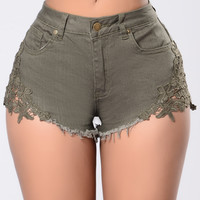 Quick Trim Shorts - Olive