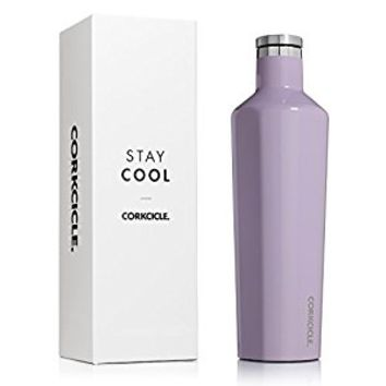 Corkcicle Triple Insulated Water Bottle and Thermos, 25 oz, Gloss Peri