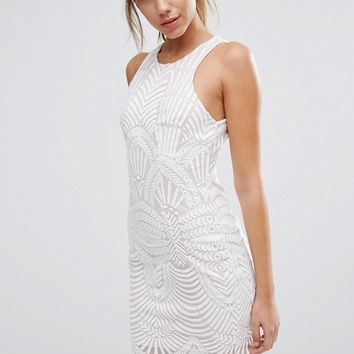 Love Triangle Art Deco Lace Mini Dress at asos.com