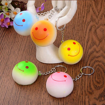 Bun Squishy Kawaii Buns Bread Charms Key Rings Cell Phone Straps Bag Parts   Accessories 10CM SM6