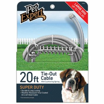 Pet Expert® PE223862 Dog Tie Out for Very Large Dogs, 20'