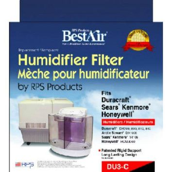 BestAir DU3 Extended Life Humidifier Wick Filter, 3-Pack