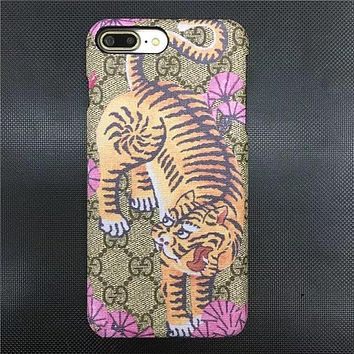 GUCCI Fashion Animal Print iPhone Phone Cover Case For iphone 6 6s 6plus 6s-plus 7 7pl