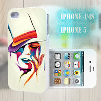 unique iphone case, i phone 4 4s 5 case,cool cute iphone4 iphone4s 5 case,stylish plastic rubber cases cover, abstract  face  p980
