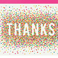 Colorful Confetti A2 Thank You Notes