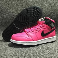 NIKE AIR JORDAN Retro Vivid Pink Women Sports Basketball Shoes