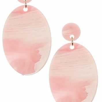 Marble Pink Earrings