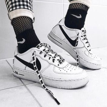 NIKE AIR FORCE 1 x NBA Joint series casual wild white shoes sports shoes