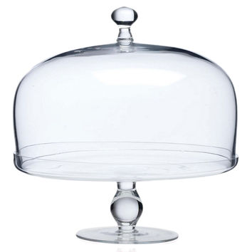 Glass Footed Cake Plate w/ Dome, Cake Stands & Tiered Trays
