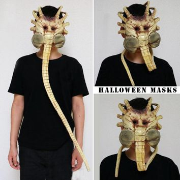 1/1 Alien Contract Worm Model Face Worm Garage Kits Halloween Mask Cosplay Bar Performances Night Performances Theme Party