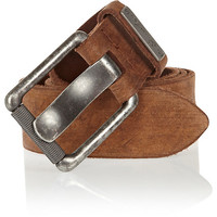 River Island MensBrown distressed wide belt