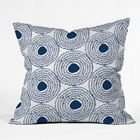 Camilla Foss Circles In Blue II Throw Pillow
