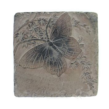 Home & Garden INSECT TILES Stone Hanging Decor Spring Ro1302 Butterfly