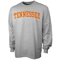 Tennessee Volunteers Ash Vertical Arch Long Sleeve T-shirt