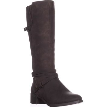 Easy Street Carlita Wide Calf Riding Boots, Brown/Shimmer, 6.5 W US