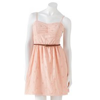 Speechless Eyelet Fit and Flare Dress - Juniors