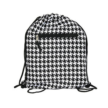 """15"""" Drawing Houndstooth Pattern Backpack Bags"""