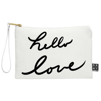 Lisa Argyropoulos Hello Love On White Pouch