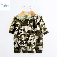 2018 Tosleo Lucky Baby Camouflage Rompers Newborn Baby Clothes  Boys Camouflage Clothes Kids Baby Military Clothes
