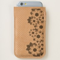 iPhone 6 / 6s Phone Pouch Polka Dots and Flowers iPhone 6/6S Case