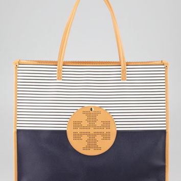 Viva Striped East-West Tote Bag