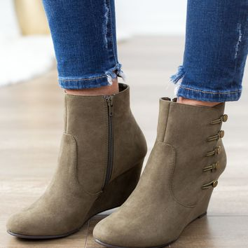 Butterscotch Bootie In Olive