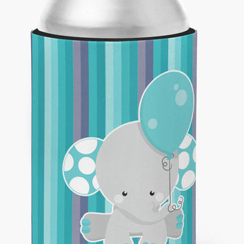 Grey Elephant with Balloon Can or Bottle Hugger BB6842CC