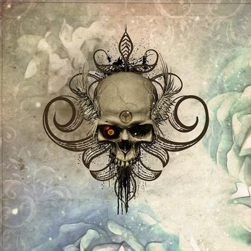 'Amazing skull with wings and grunge' by nicky2342